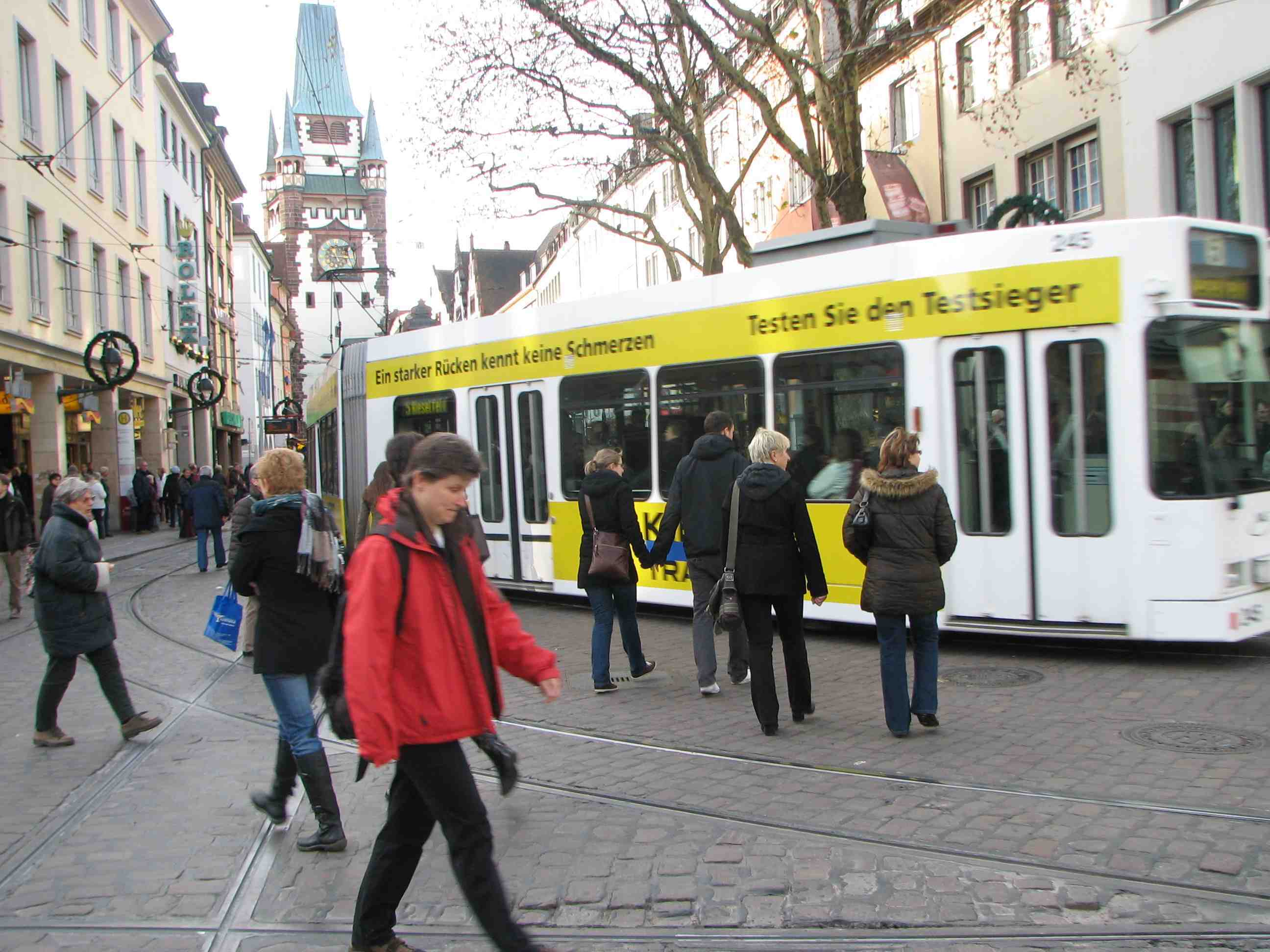 Light rail in Freiburg, Germany