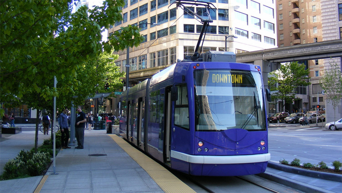 Light rail in Seattle, Washington