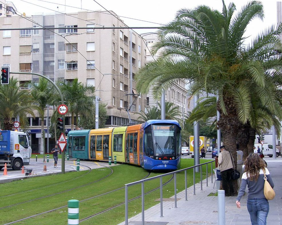 Light rail in Tenerife, Spain
